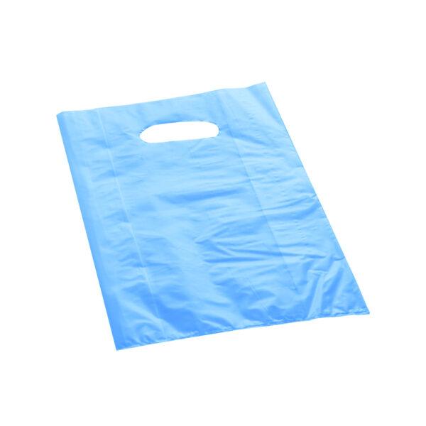 Effetto Grafico - Shopper di plastica azzurra